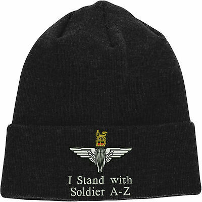I Stand With Soldier F Embroidered Baseball Parachute Paratrooper Solidarity Hat