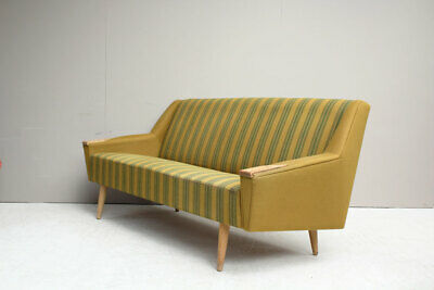Original Vintage Midcentury Danish 1960s Three Seater Sofa