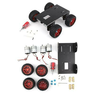 4WD Smart Robot RC Car Aluminum Alloy Chassis Kit DIY Accessory + ABS Wheel