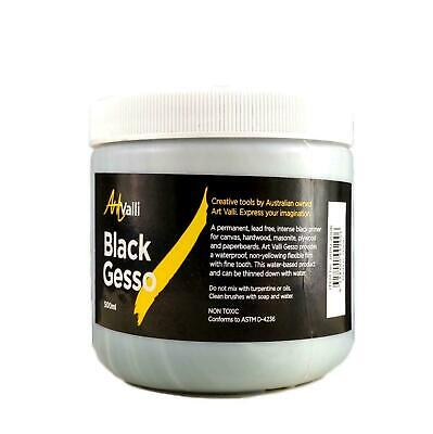 500ml Black GESSO Canvas Primer Artist Craft Wood Sealer Non-Toxic Water Based
