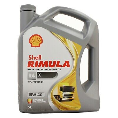 Shell Rimula R4 X 15W-40 Heavy Duty Diesel Engine Oil - 5 Litres 5L
