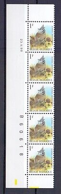 BELGIUM 1998 titmouse buzin bird cpl datestrip 23iv98  MNH** A187