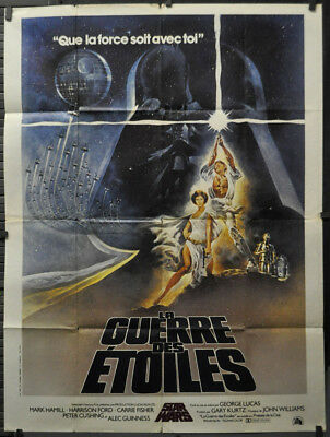 Star Wars 1977 Authentic 47X63 French Movie Poster Mark Hamill Harrison Ford