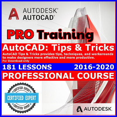 Video Courses AutoCAD 2016 - 2019 Tricks & Tips Training Video Lessons Tutorials