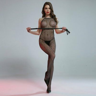 Cindylove The Courtney Body Stocking with Open Gusset Tie back & High neck Line