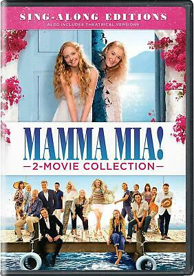 Mama Mia 2 Movie Collection 1-2 Hit Film Here We Go Again DVD Sing Along Purple