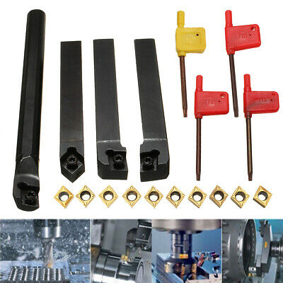 4pcs SCLCR/L SCMCN 12mm Lathe Boring Bar Turning Tool Holder With 10pcs