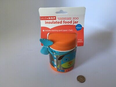 Skip Hop Baby Zoo Little Kid and Toddler Insulated Food Jar & Spork set Puppy