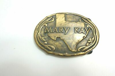 Vintage Brass Belt Buckle ~ Mary Kay With State Of Texas In Background