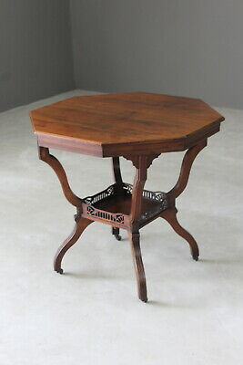 Antique Victorian Octagonal Centre Occasional Table