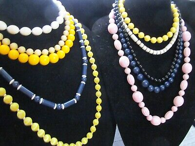 Vintage Beaded Necklace Lot of 10 Pieces
