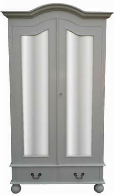 French Single Wardrobe Mirror Doors - Flat Pack Format  - Painted in any Colour