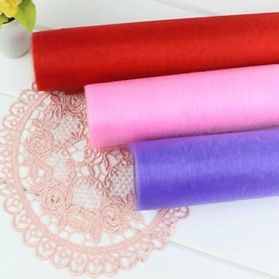 Wedding Tulle Roll Organza Sheer Fabric Chair Sash Bow Party Venue Supplies LIN