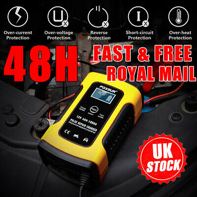 Automatic Car Motorcycle Battery Charger 12V Smart Pulse Repair LCD Display UK