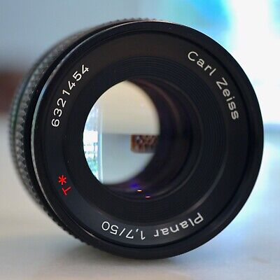 Contax ZEISS Planar T 50mm f/1.7 MF Lens C/Y mount -Will adapt to Sony, Fuji etc