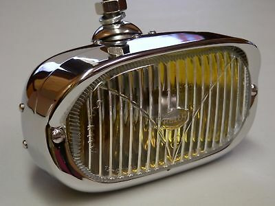 Porsche Hella 128 fog light Amber reflector New light perfect chrome as NOS