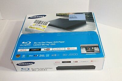 SAMSUNG BD-J5100 BLU Ray Player with Remote Streaming Apps