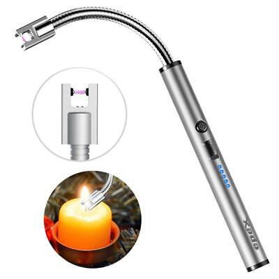 Electric Lighter Flexible USB Rechargeable Kitchen Candles BBQ + LED Indicator