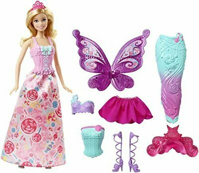 uk availability later 100% quality BARBIE DREAMTOPIA POUPÉE Bonbons Blonde Coffret 3 Tenues ...