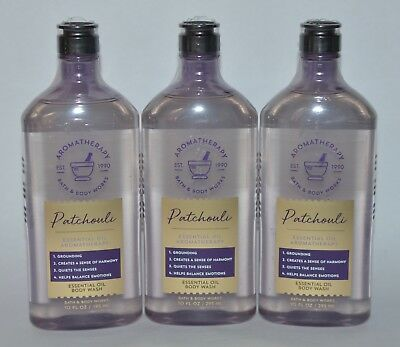 3 Bath & Body Works Aromatherapy Patchouli Duschgel Schaum Ätherisches