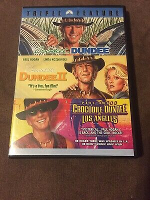 Crocodile Dundee Triple Feature Trilogy DVD 3-Disc Set 1 2 3 II In Los Angeles