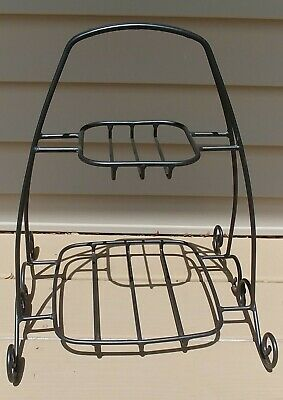 Longaberger Wrought Iron Two Tier Buffet Stand