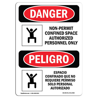 OSHA DANGER SIGN - Permit Required Confined Space | Heavy