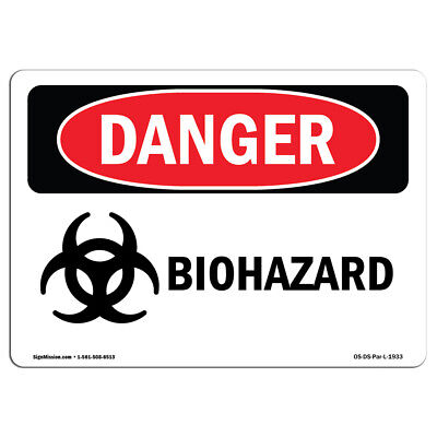 OSHA Danger Sign - Biohazard | Heavy Duty Sign or Label