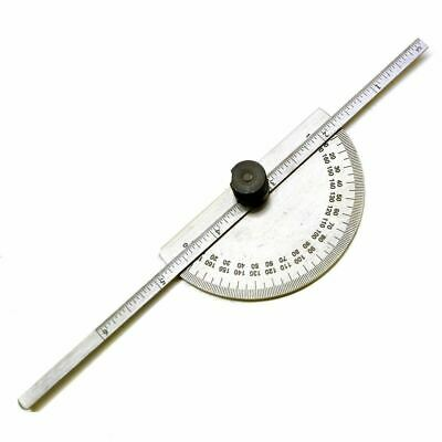 Stainless steel Protractor With Depth Gauge Scale - 150mm