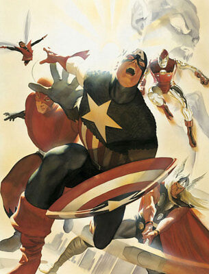Home Decor Art Print on Canvas Poster The Avengers 4 Homage Gallery 16x20