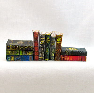 1:6 Scale DUSTY OLD BOOKS Set of 10 Prop Books Miniature Play Scale Barbie Books