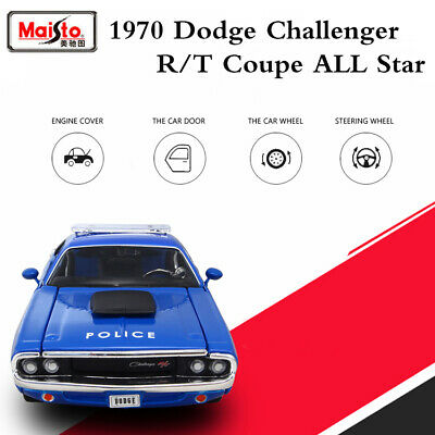 1970 Dodge Challenger R/T Coupe Muscle Car Police Vehicle Diecast Model Toy 1/24