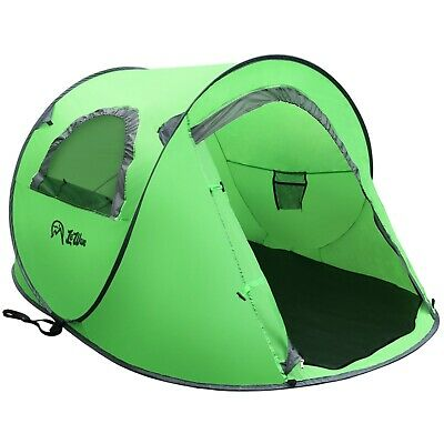 Camping Tent POP up Instant - 2 person - Mosquito Proof - Green LeWave