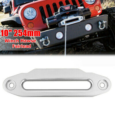 """10"""" 254mm Aluminium Alloy Hawse Fairlead 16800lbs For Winch Synthetic Rope 4WD"""