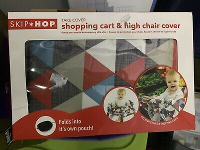 Skip Hop Compact 2 in 1 High Chair Shopping Cart Cover Triangle Design B3