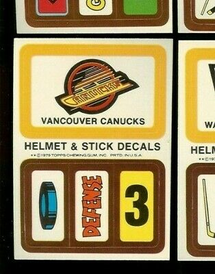 1979-80 Topps Hockey Wax Pack Insert Decal Team Sticker Vancouver Canucks Mint