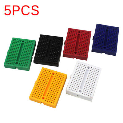 5 Pcs SYB-170 Mini Solderless Breadboard Prototype Board Plates 170 Tie-points..