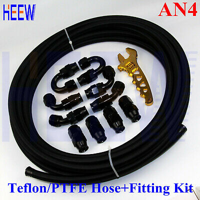 120 Degree PTFE Hose End Fitting Fuel Oil E85-08 AN