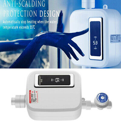 Electric Tankless Instant Hot Water Heater Kitchen Bathroom Under Sink Tap