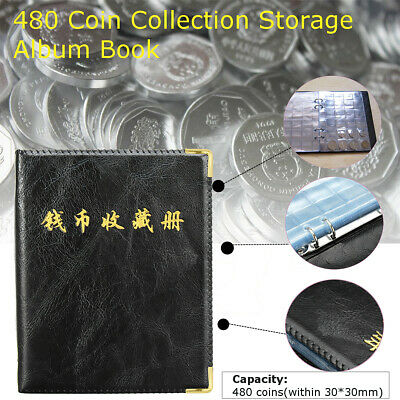 2X 480 Coins Holder Collection Storage Album Money Penny Book Collecting Pockets