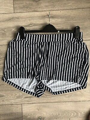 Asos Maternity Shorts 12 Breton Stripe Under Bump Perfect For Summer