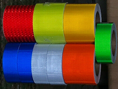 NEW 1M - 25M  Reflective Tape High Visibility High Vis Tape UK SUPPLIER