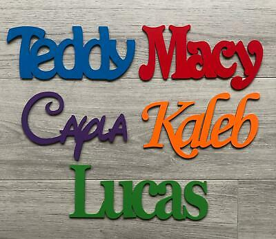 Personalised Wooden Door Letters Bedroom Name Plaque or Toy Box Times Roman#157