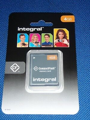 Integral 4GB Compact Flash Card CF Memory Card Digital Camera - New In Packet