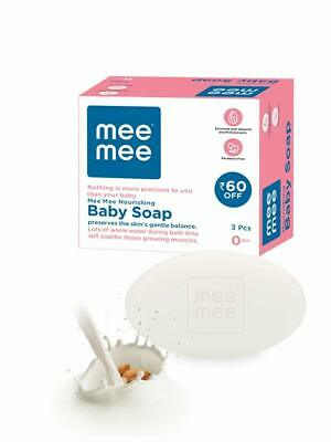 Mee Mee Nourishing Baby Soap with Almond & Milk Extracts 75g Pack of 3