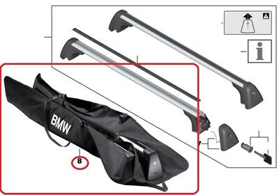 Genuine BMW Roof Rack bars storage bag PN: 82712289107 UK NEW