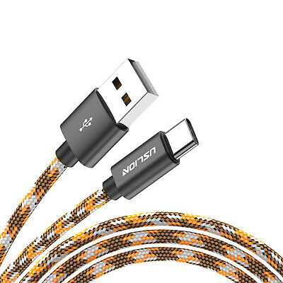 0.3m Heavyduty Braided Fast Speedy Charge Type C USB-C Sync Charger Cable Orange
