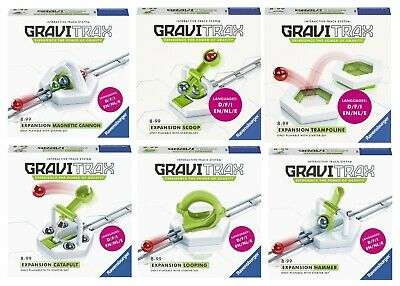 GRAVITRAX 6 EXTENSIONES: Looping, Hammer, Cannon, Catapult, Scoop y Trampoline