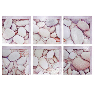 3D Cobblestone Anti Slip Bathtub Stickers Non Slip Shower Decal For Tubs Floor