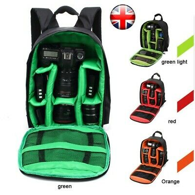 Travel Waterproof DSLR SLR Camera Bag Backpack For Canon Nikon Sony Rucksack UK